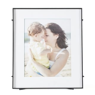 "Barin 80 Black Square Rod Photo Frame 8""X10"" ( 12""X14"" Matted )"