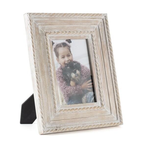 """Capri White Wood Frame 5""""X7"""""""