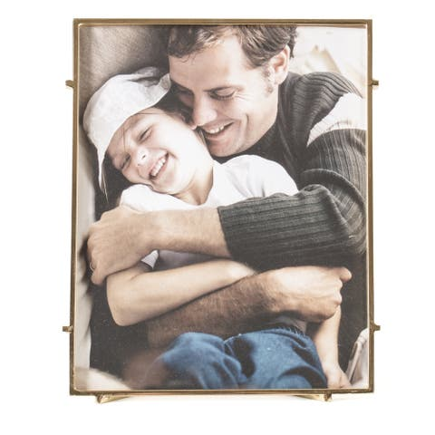 "Bari 80 Gold Square Rod Photo Frame 8""X10"""