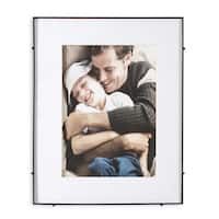 "Barin 14 Black Square Rod Photo Frame 10""X14"" ( 16""X20"" Matted )"