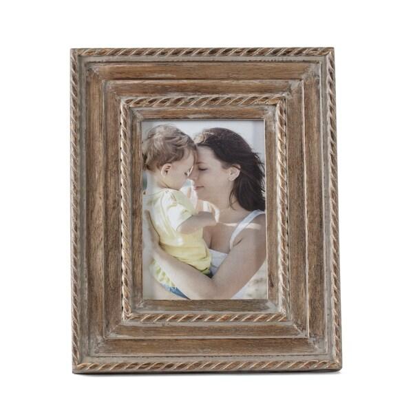 "Capri Grey Wood Frame 5""X7"""