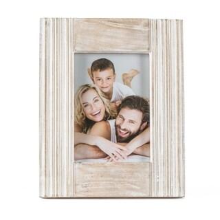 "Parma White Wood Frame 5""X7"""
