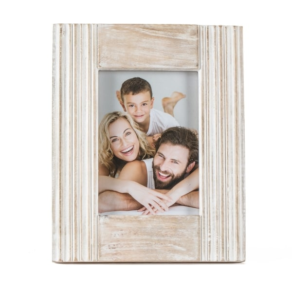 "Parma White Wood Frame 5""X7"""