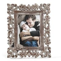 "Pisa57 Grey Carved Frame 5""X7"""