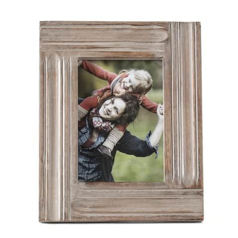 "Imola Grey Wood Frame 5""X7"""