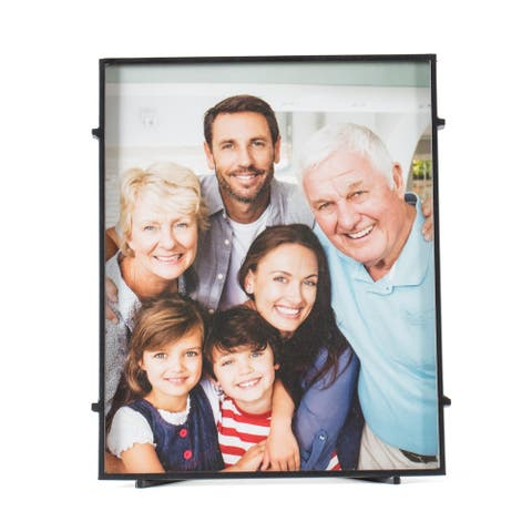 "Bari 80 Black Square Rod Photo Frame 8""X10"""