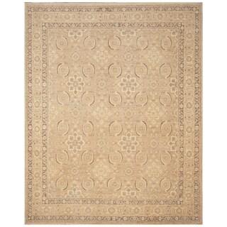 Handmade Vegetable Dye Oushak Wool Rug (Afghanistan) - 8'10 x 11'