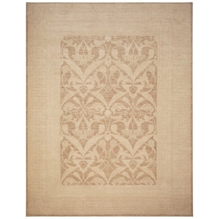 Handmade One-of-a-Kind Vegetable Dye William Morris Wool Rug (Afghanistan) - 9' x 11'5