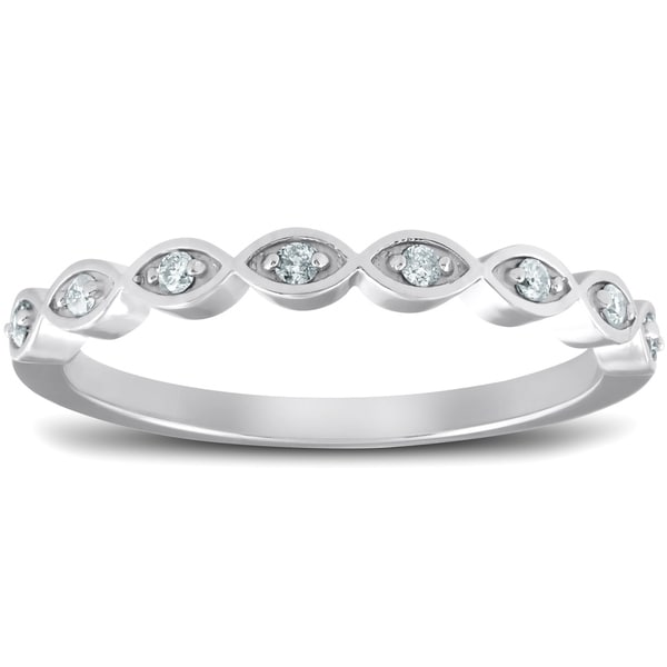 Shop Bliss 10k White Gold 1/10 Ct TDW Diamond Marquise