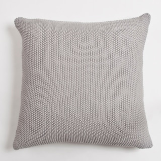 Eugine Solid Grey Euro Pillow