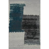 Silver Gray Contemporary 2x3 Rug - 2' x 3'