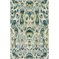 Silver Yellow Contemporary 2x3 Rug - 2' x 3'