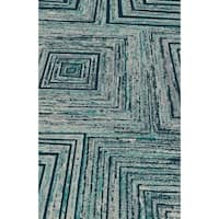 Yellow Contemporary 2x3 Rug - 2' x 3'