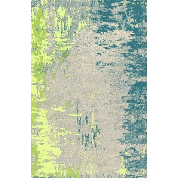 Silver Blue Contemporary 2x3 Rug - 2' x 3'