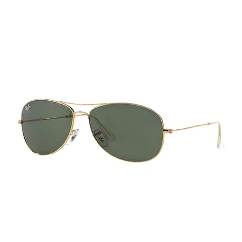 Ray-Ban RB3362 Cockpit Sunglasses Gold/ Green Classic 56mm