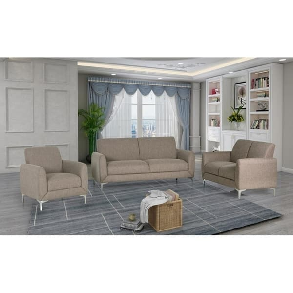 Shop Best Master Furniture 3 Pieces Wheat Living Room Set Free