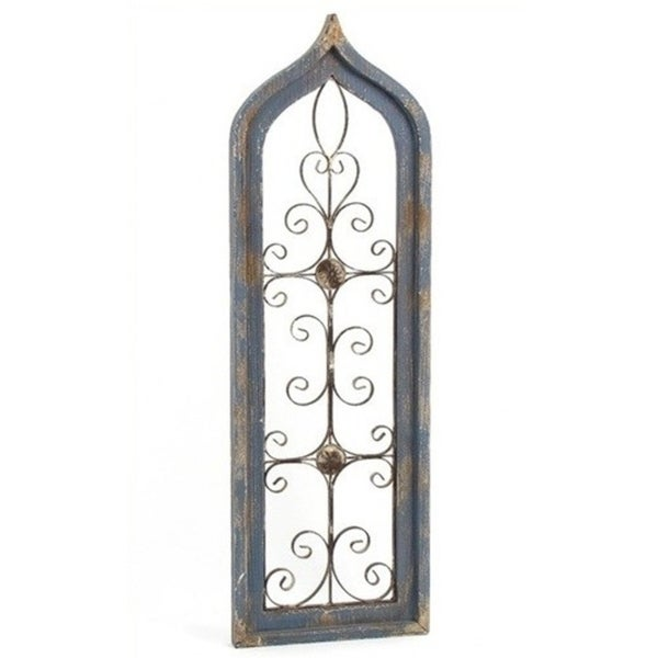 Tall Antique Style Wooden Wall Décor