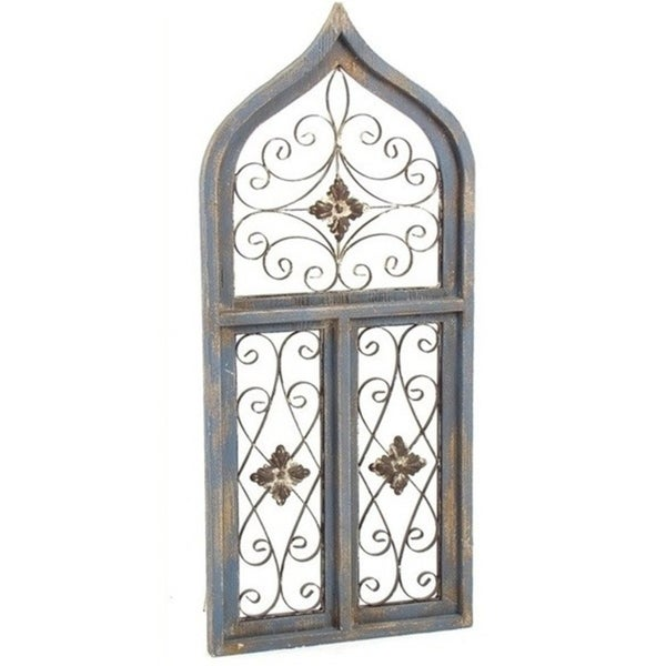 Antique Style Wooden Wall Window Décor