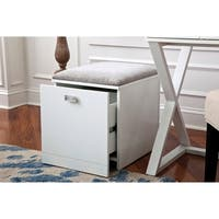 OS Home and Office Kate File Cabinet and Stool in White