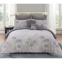 Aiko Cotton King Size Comforter Set in Purple (As Is Item)