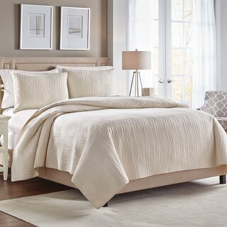 Croscill Heatherly King Size Quilt in Ivory (As Is Item)