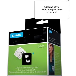Dymo Name Badge Label with Clip Hole