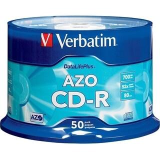 Verbatim CD-R 700MB 52X DataLifePlus with Branded Surface - 50pk Spin