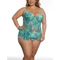 Sun and Sea Curvy Mesh Tankini Top