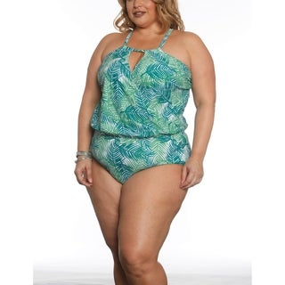 Sun and Sea Curvy Blouson Cross Over One Piece