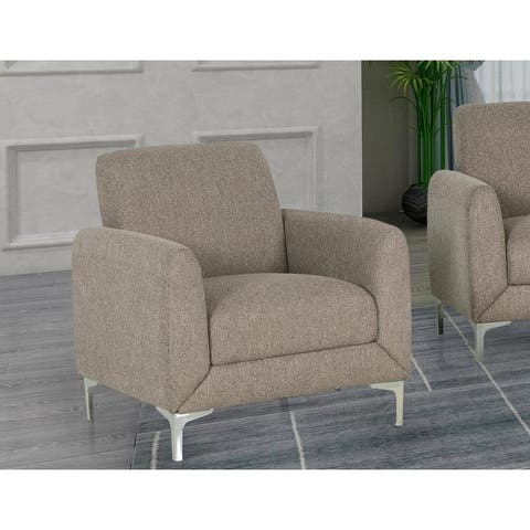 Best Master Furniture Wheat Fabric Upholstered Armchair