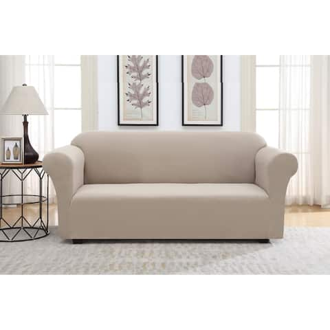 Harper Lane Solid Pique Slipcover for Sofa
