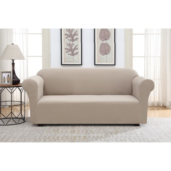 Harper Lane Solid Pique Slipcover for Love Seat