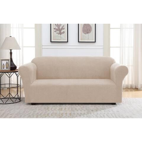 Harper Lane Solid Striae Slipcover for Sofa