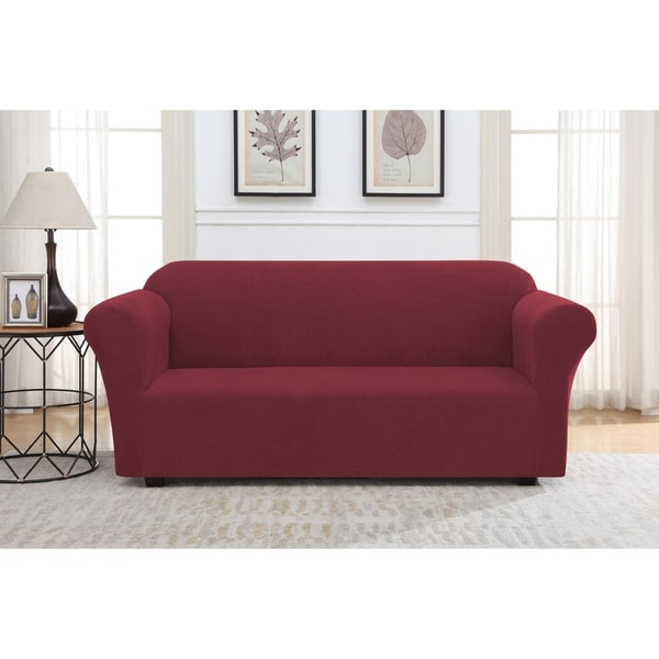 Harper Lane Solid Striae Slipcover for Sofa