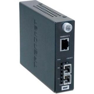 TRENDnet Intelligent 1000Base-T to 1000Base-SX Multi-Mode Fiber Conve