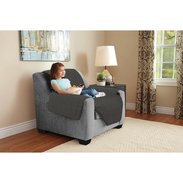 Harper Lane Box Stitch Faux Suede Chair Furniture Protector