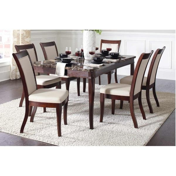 Shop Glenthorne Faux Exotic Stone Top Dining Table Brown