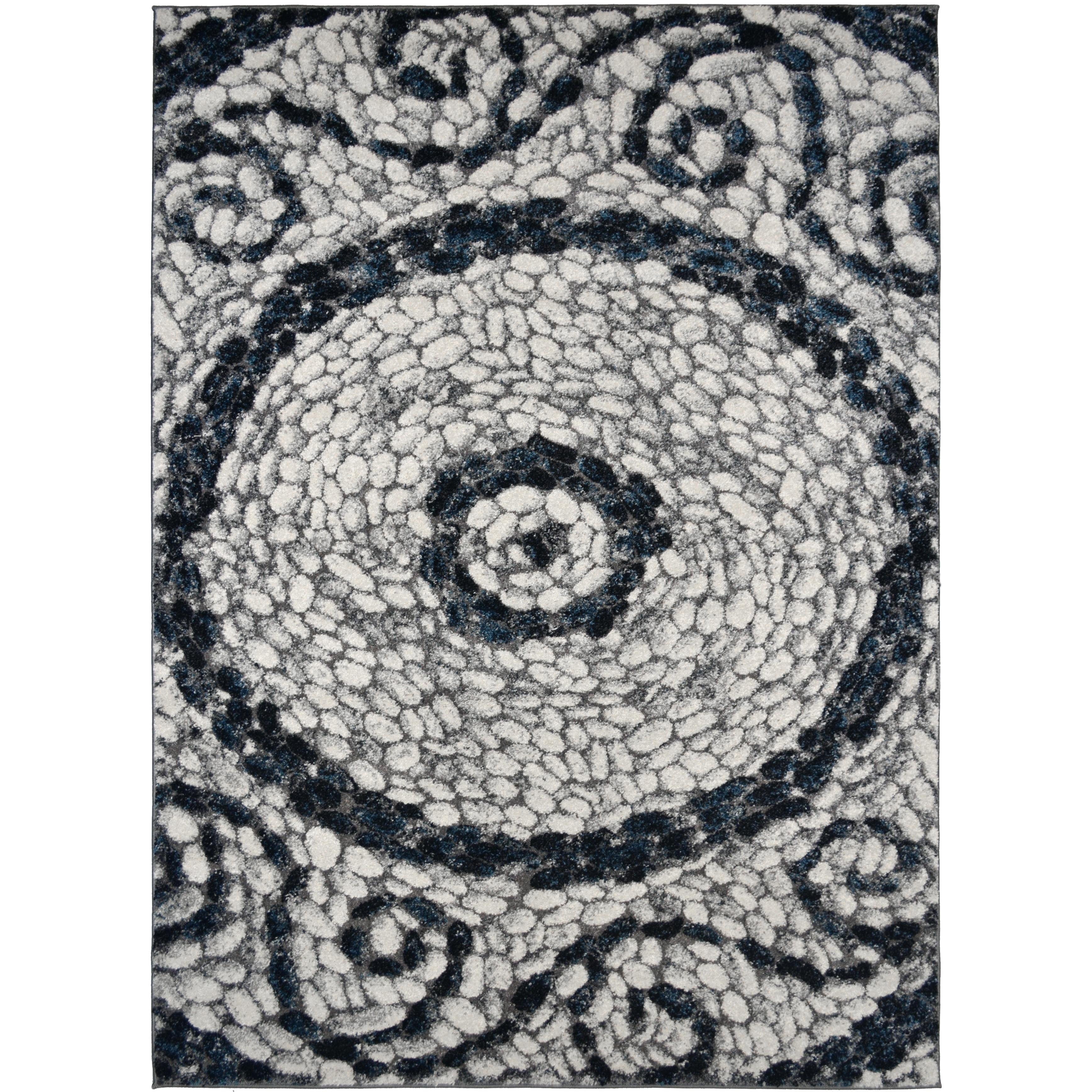 Porch Den Jarrell Cream And Grey Cobblestone Area Rug Overstock 26444621