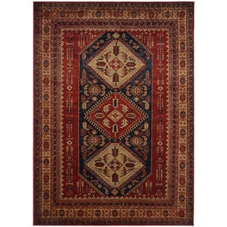 Tribal Red Traditional Oriental Area Rug