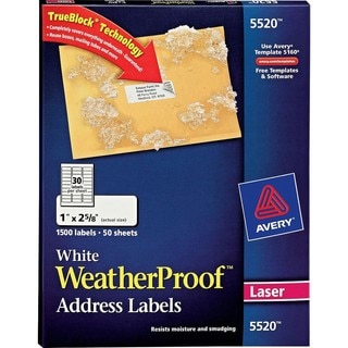 Avery Weatherproof Durable Laser Labels