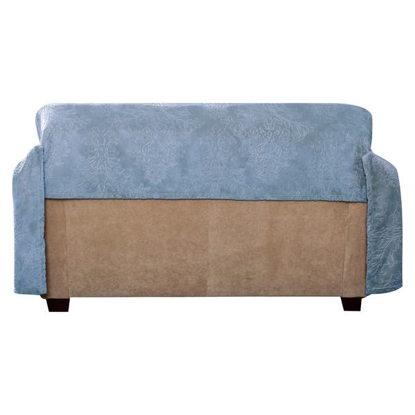 Cool Shop Plush Damask Throw Loveseat Slipcover On Sale Free Caraccident5 Cool Chair Designs And Ideas Caraccident5Info