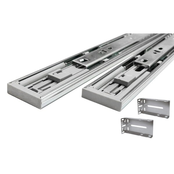 Hydraulic Soft Close 16-inch Full Extension Drawer Slides With Rear  Mounting Brackets (Pack of 10 Pair)