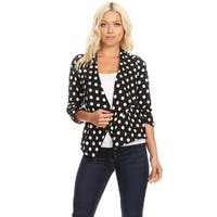 Women's Solid Print 3/4 Sleeve Casual Regular & Plus Size Cardigan Sweater Blazer