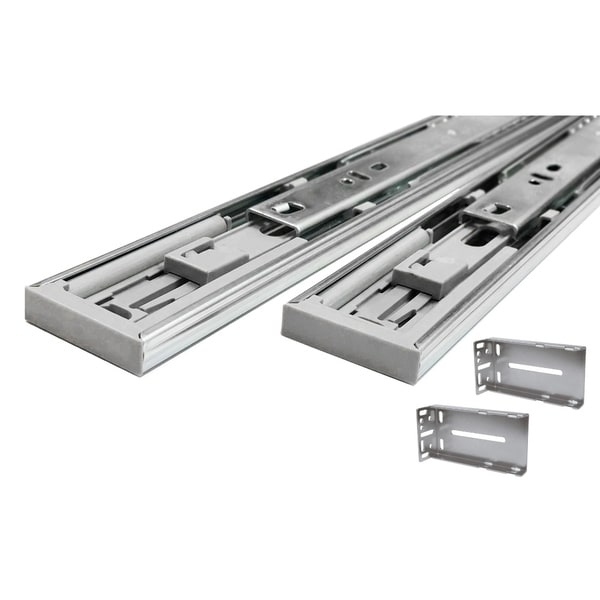 Hydraulic Soft Close 22-inch Full Extension Drawer Slides With Rear  Mounting Brackets (Pack of 5 Pair)