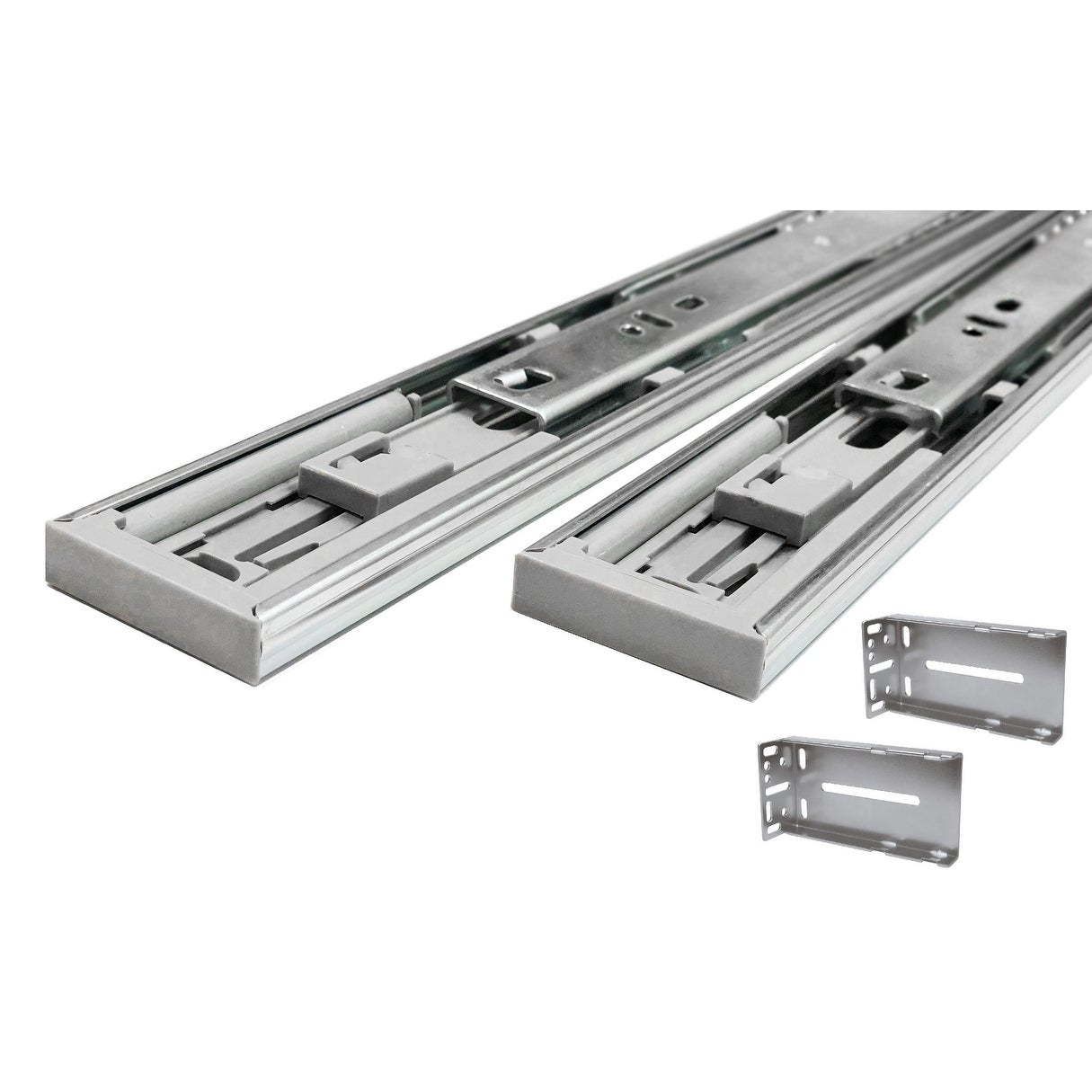 Shop Black Friday Deals On Hydraulic Soft Close 22 Inch Full Extension Drawer Slides With Rear Mounting Brackets Pack Of 1 Pair Overstock 26445181