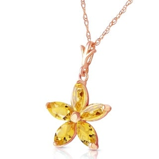 Link to 14K Solid Rose Gold Necklace with Natural Citrines Similar Items in Necklaces