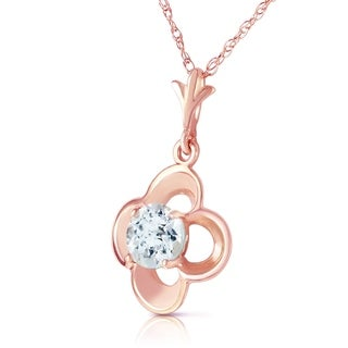 Link to 14K Solid Rose Gold Necklace with Natural Aquamarines Similar Items in Necklaces