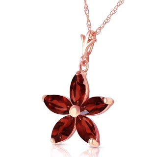 Link to 14K Solid Rose Gold Necklace with Natural Garnets Similar Items in Necklaces