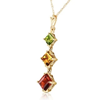 Link to 2.4 Carat 14K Solid Gold Necklace Peridot, Citrine Garnet Similar Items in Women's Watches