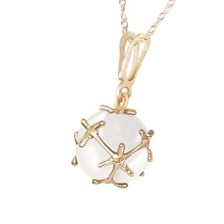 14K Solid Gold Necklace With Natural Opals